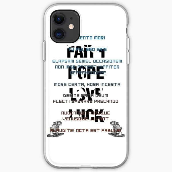 Zero Escape latin phrases iPhone Soft Case