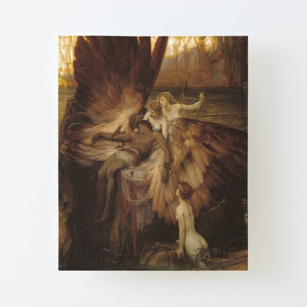 Herbert Draper - The Lament for Icarus Canvas Mounted Print