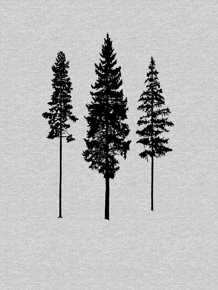Minimalist Skinny Pine Trees by fighting4nature