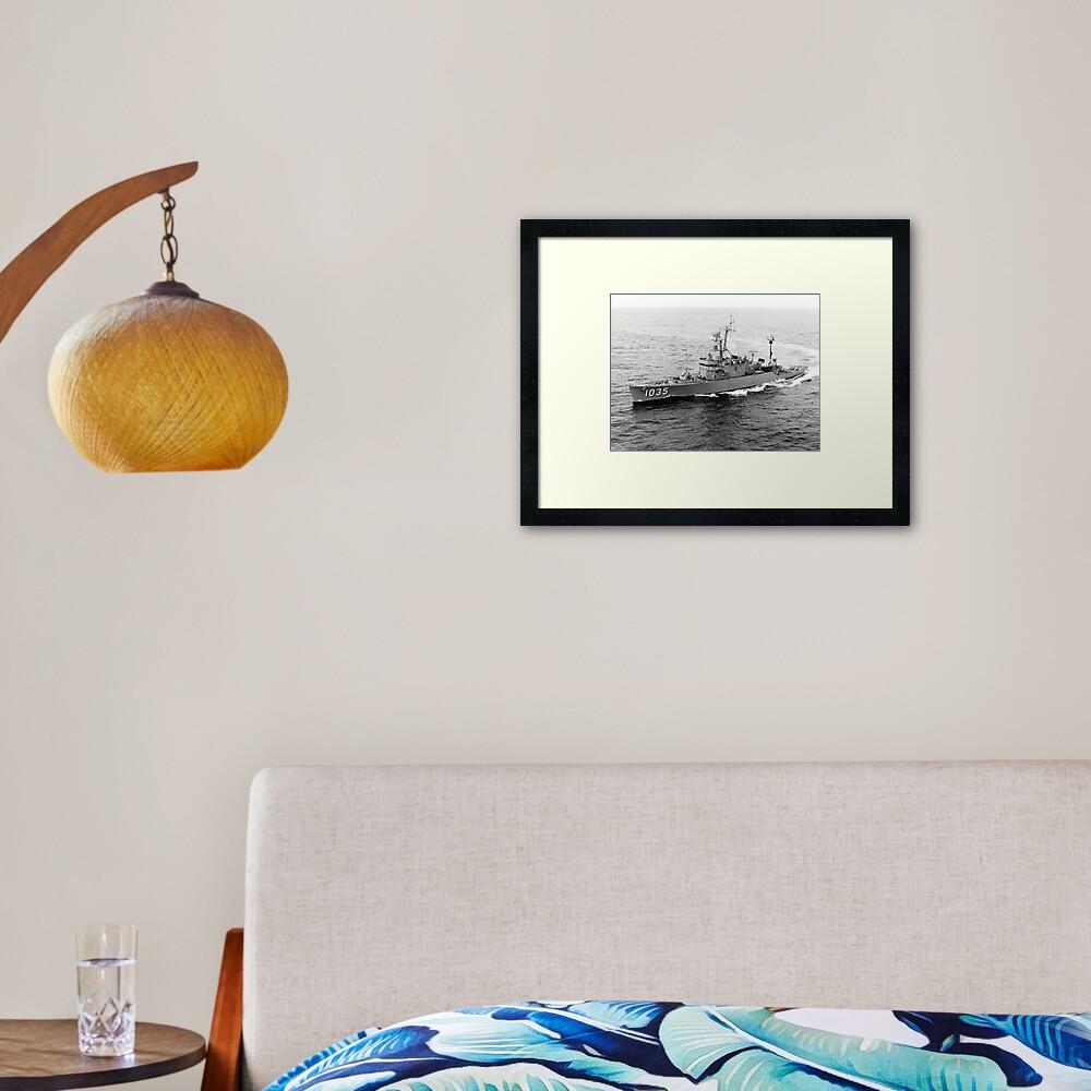 USS CHARLES BERRY (DE-1035) SHIP'S STORE Framed Art Print