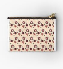 Simple Floral Light Pink Zipper Pouch