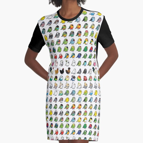 Everybirdy Collection Graphic T-Shirt Dress