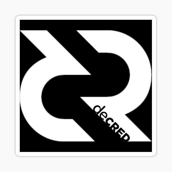 (sticker) Decred Logo ™ v3 'Design timestamped by https://timestamp.decred.org/' Sticker