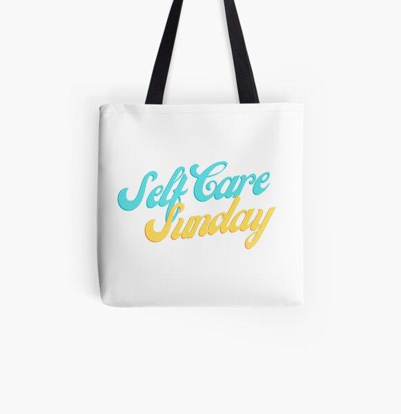 Self Care Sunday All Over Print Tote Bag