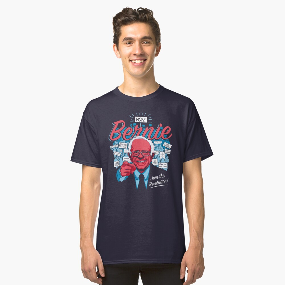 Bernie Sanders Revolution  Classic T-Shirt Front