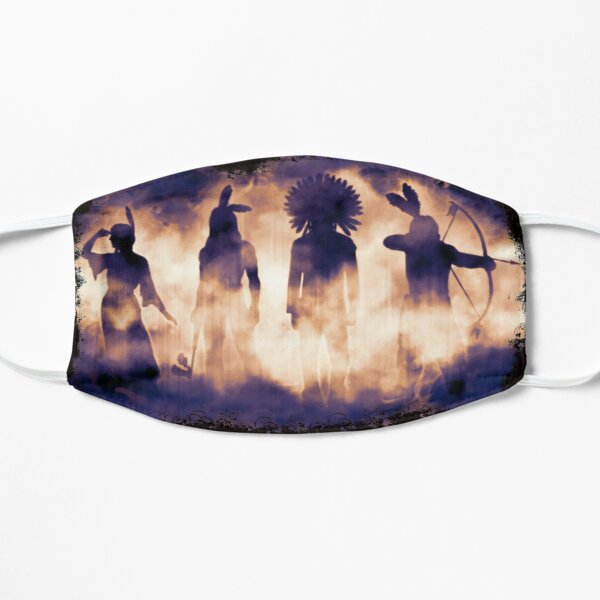 Native American Warriors Silhouettes  Mask