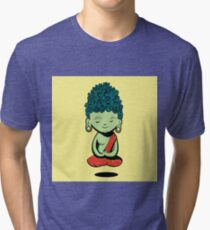 Young Green Buddah Tri-blend T-Shirt