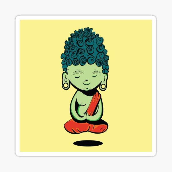 Young Green Buddah Sticker