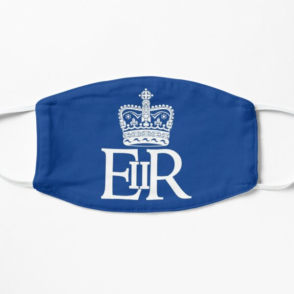 The Royal Cypher of Queen Elizabeth II Flat Mask