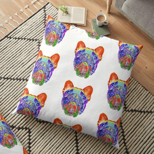 Pop Art Frenchie Floor Pillow