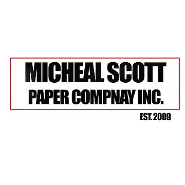 Micheal Scott Paper Company Tee by cambam097