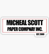 Micheal Scott Paper Company Tee Sticker