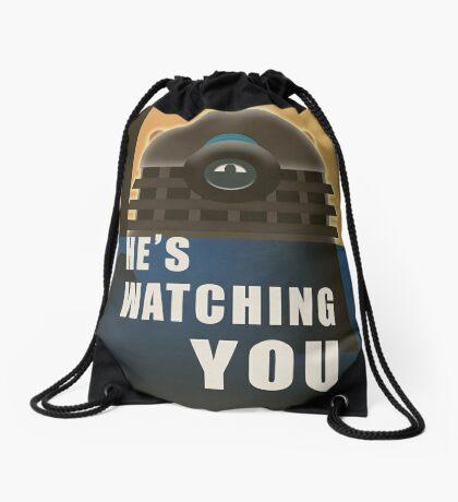He is Watching You! Drawstring Bag