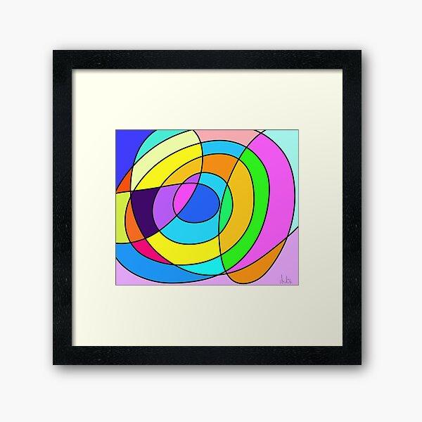 Abstract Mosaic Four Framed Art Print