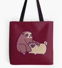 Sloth and Pug Tote Bag