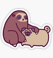 Sloth and Pug Sticker