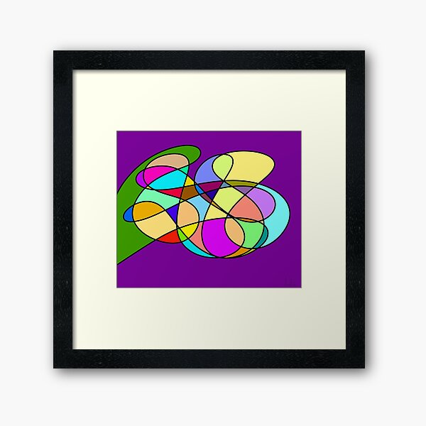 Abstract Mosaic Two Framed Art Print