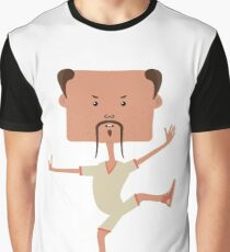 Funny karate man Graphic T-Shirt