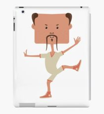 Funny karate man iPad Case/Skin