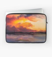 Sunset in the mountains Laptop Sleeve