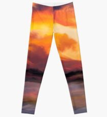 Sunset in the mountains Leggings