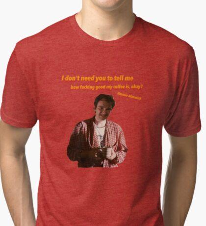 Jimmie Dimmick - Café Camiseta de tejido mixto