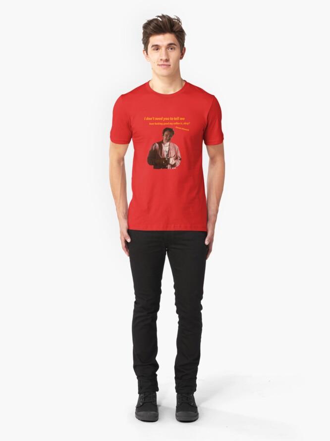 Vista alternativa de Camiseta ajustada Jimmie Dimmick - Café