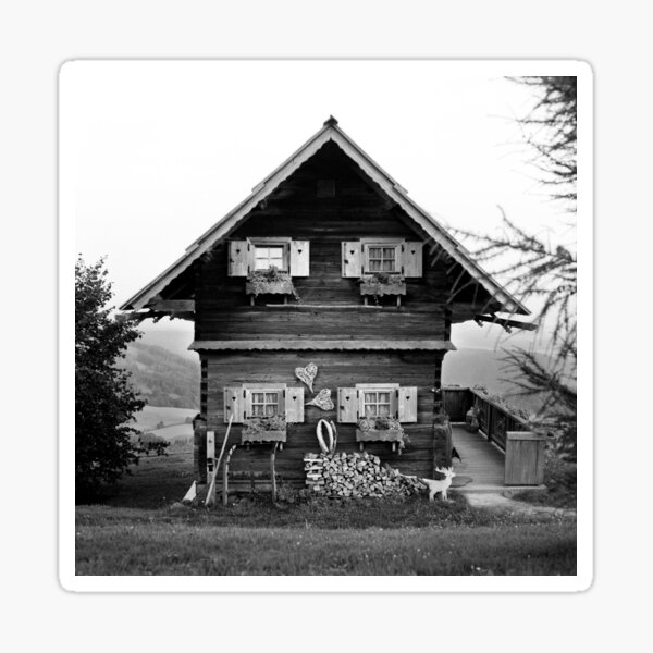 Little austrian alpine house Sticker