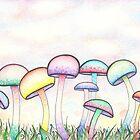 Swirly Mushrooms by Megan Stone