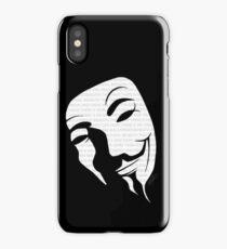 V for vendetta mask iPhone Case