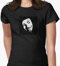 V for vendetta mask Women's Fitted T-Shirt