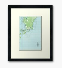 USGS TOPO Map Republic of Palau PW Oreor 463189 1983 25000 Framed Print