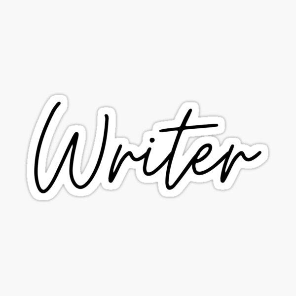 Writer - Black Sticker