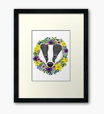 Spring Badger Framed Print