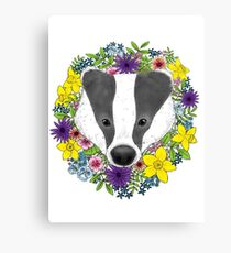 Spring Badger Canvas Print