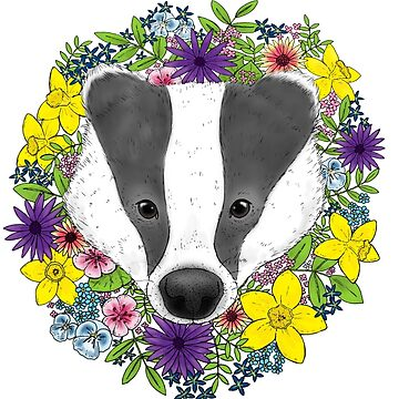 Spring Badger by sillybadger