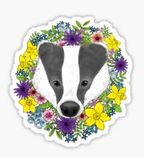 Spring Badger Sticker