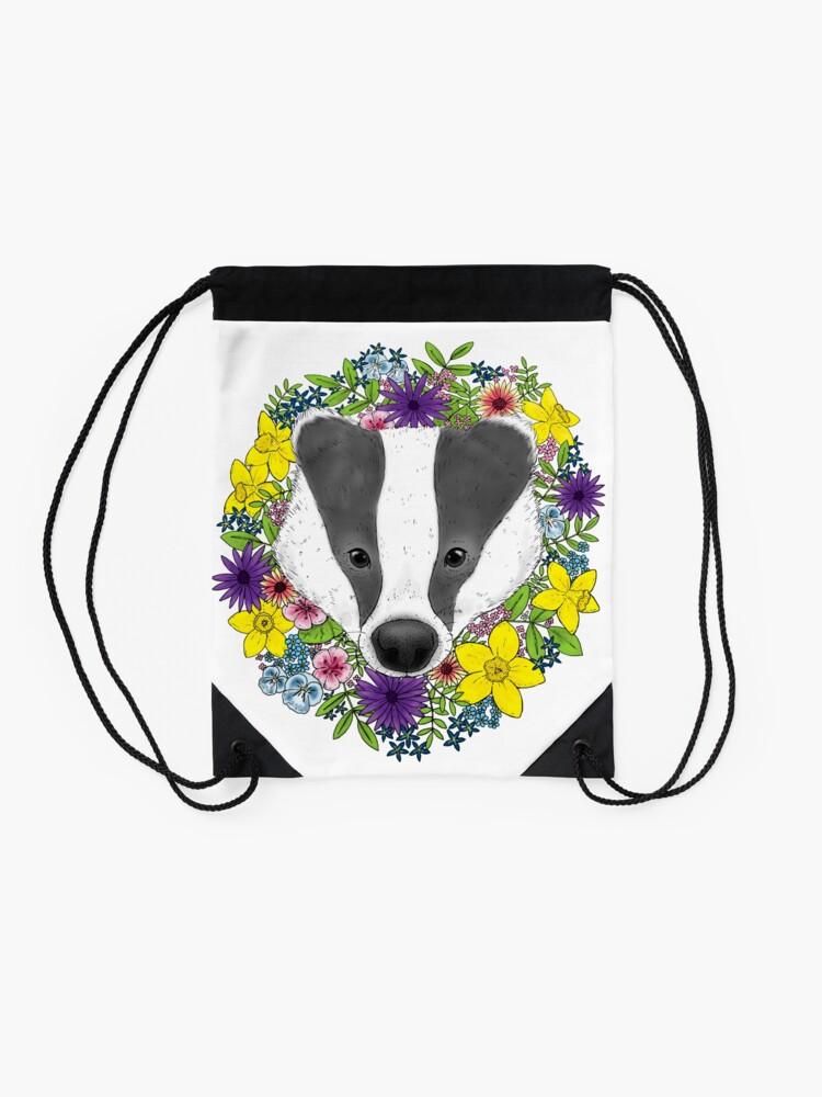Alternate view of Spring Badger Drawstring Bag