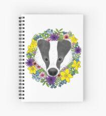 Spring Badger Spiral Notebook