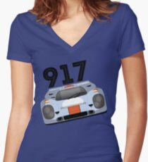 1970 racing Women's Fitted V-Neck T-Shirt