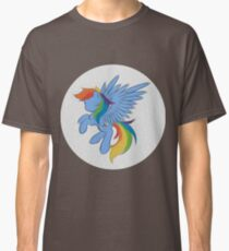 Rainbow Dash Abstract 2 (White + Oil Paint) Classic T-Shirt