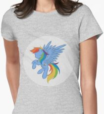 Rainbow Dash Abstract 2 (White + Oil Paint) T-Shirt
