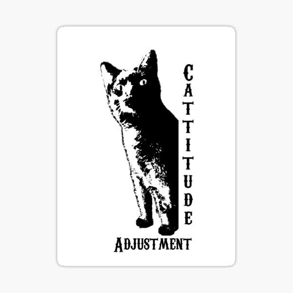 Cattitude Adjustment Sticker