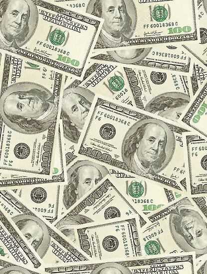 '100 dollar bills' Poster by Llamarama13