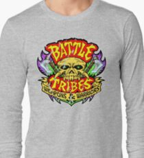 Battle Tribes Skull Logo (Distressed) Long Sleeve T-Shirt
