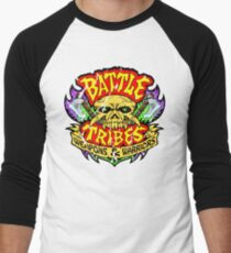 Battle Tribes Skull Logo (Distressed) Men's Baseball ¾ T-Shirt