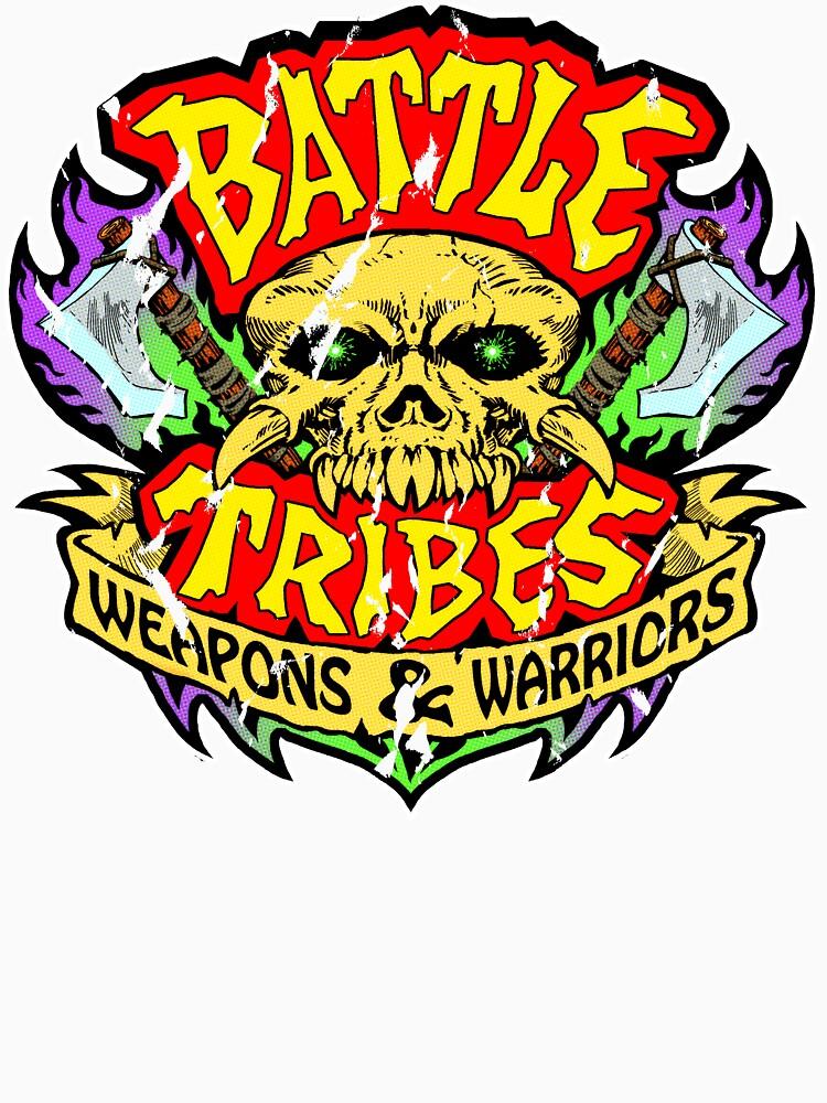 Battle Tribes Skull Logo (Distressed) by spymonkey