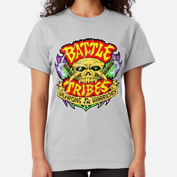 Battle Tribes Skull Logo (Distressed) Classic T-Shirt