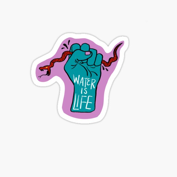 Water is Life - Grasping Snake  Sticker