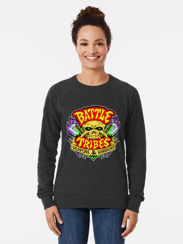 Alternate view of Battle Tribes Skull Logo Lightweight Sweatshirt